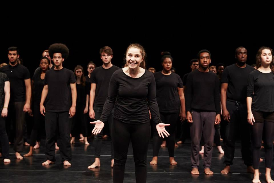 Emily Cox, centre. Photo: National Youth Theatre.
