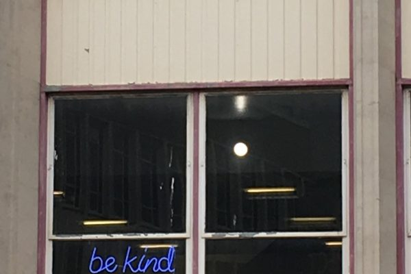 Be Kind in a window