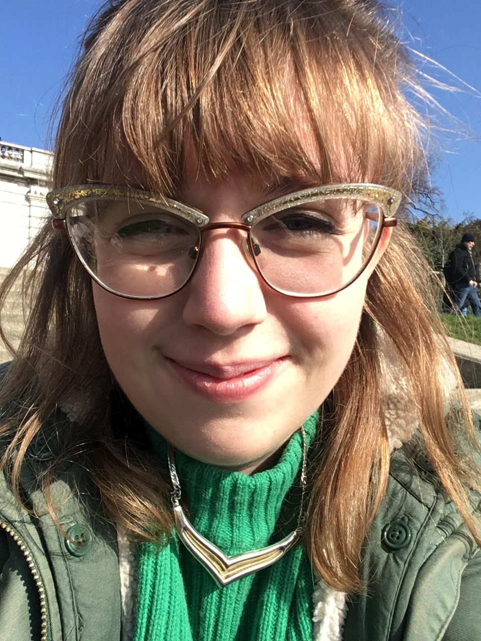 A close-up selfie of Hattie Callery