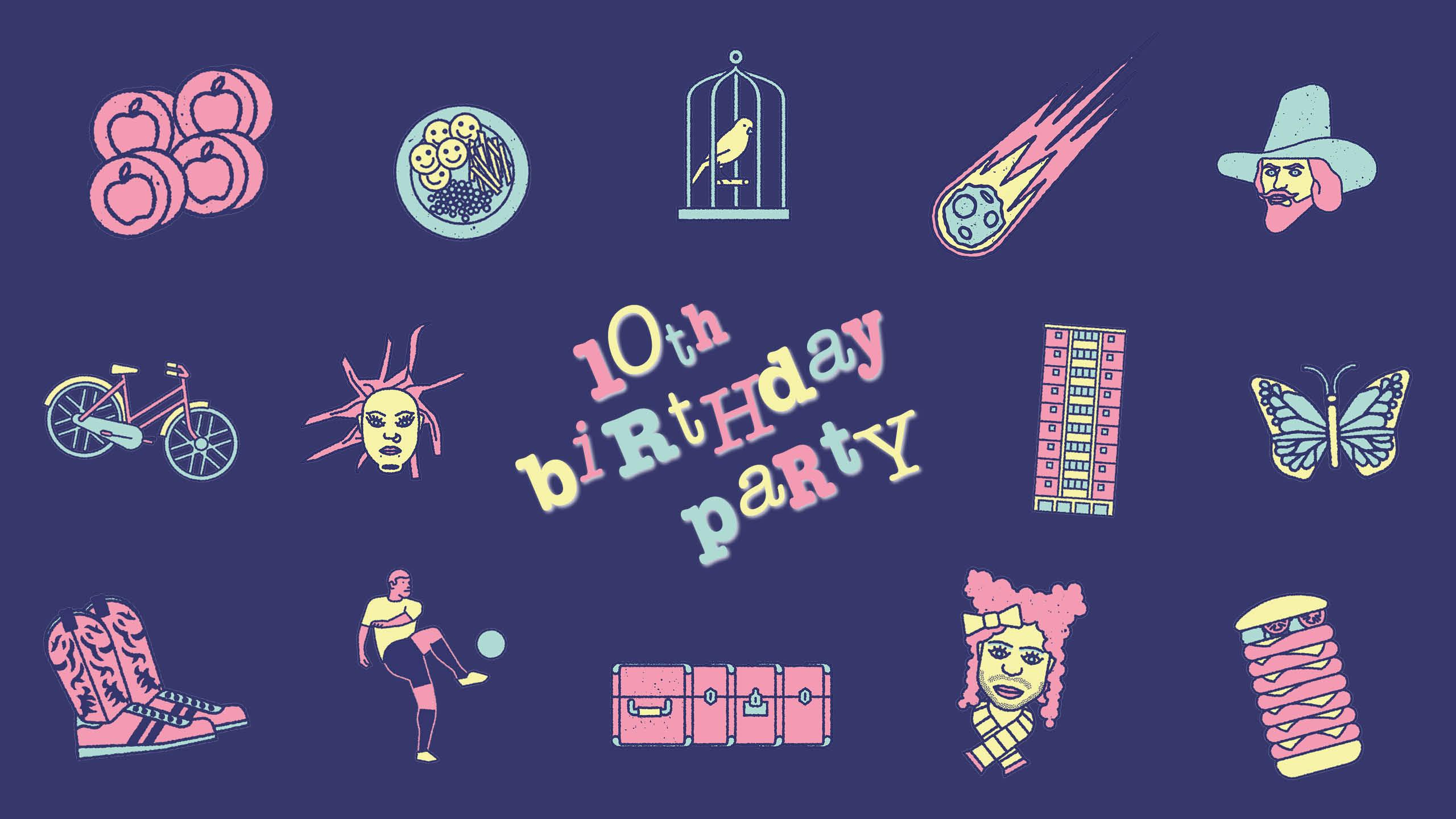 10th Birthday Party artwork